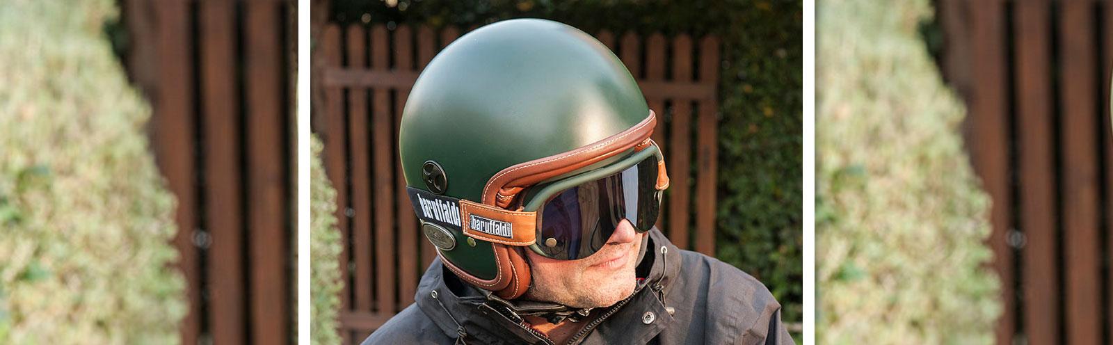 occhiale Baruffaldi speed4 verde bosco con casco verde coordinato